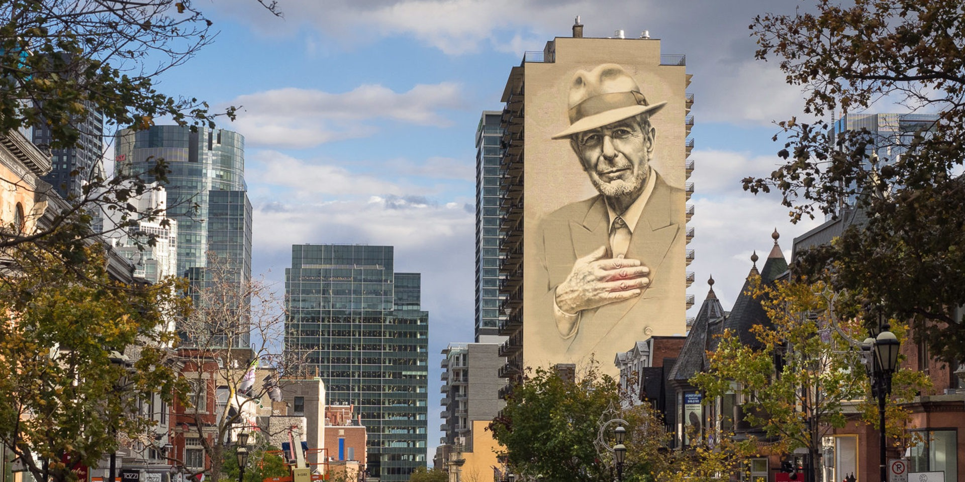 The Leonard Cohen Crescent Street Mural Tourisme Montreal