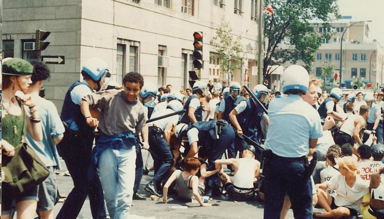 image de répression policière